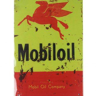Mobil Oil gas pegasus vintage tin metal sign 0076a Gas Oil Automotive Gas