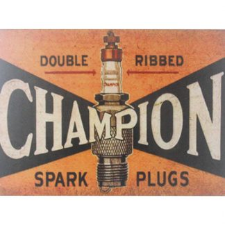 Champion spark plugs tin metal sign 0077a Metal Sign bathroom wall art prints