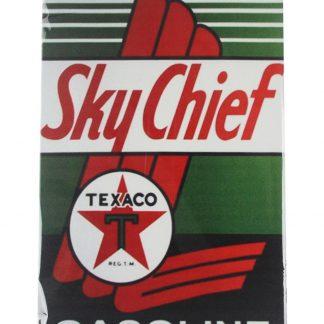 Sky Chief Texaco gasline tin metal sign 0078a Gas Oil Automotive chief