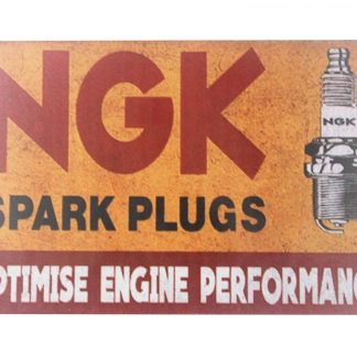NGK Spark plugs tin metal sign 0079a Metal Sign Cottage Farm wall hanger