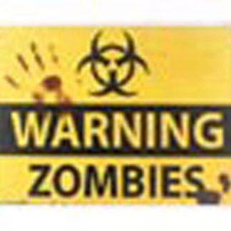 warning zombies tin metal sign 0081a Metal Sign cheap metal wall decor