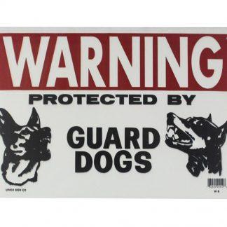 warning guard dogs tin metal sign 0087a Metal Sign Cottage Farm wall art
