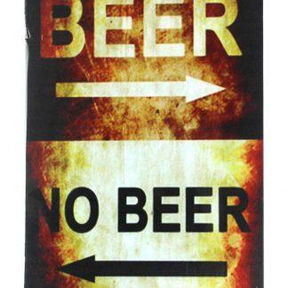 Beer No beer tin metal sign 0088a Beer Wine Liquor beer