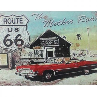 route 66 mother road tin metal sign 0092a Gas Oil Automotive cafe pub coffee shops metal wall art