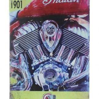 biker Indian motorcycle 1901 tin metal sign 0097a Gas Oil Automotive 1901