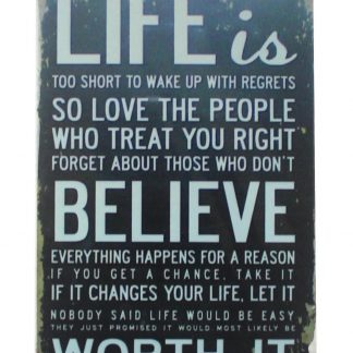 Life is too short tin metal sign 0099a Metal Sign best wall decor