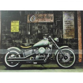 biker motorcycle rider tin metal sign 0101a Gas Oil Automotive biker