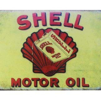 Shell motor oil vintage tin metal sign 0105a Gas Oil Automotive garage poster advertising wall decor