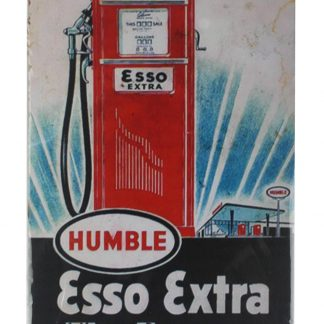 Esso Extra gasoline tin metal sign 0117a Gas Oil Automotive Esso
