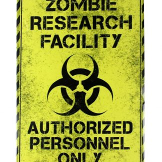 Zombie research facility tin metal sign 0121a Metal Sign decorative home