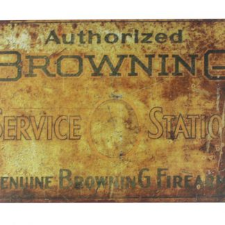 Genuine Browning Firearm tin metal sign 0124a Metal Sign bedroom