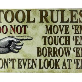 tool rules tin metal sign 0125a Metal Sign living room decor