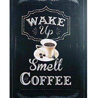 Wake up Smell Coffee tin metal sign 0127a Metal Sign Coffee