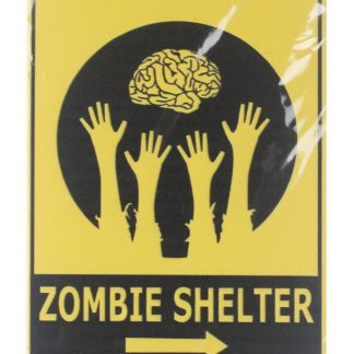 Zombie Shelter tin metal sign 0128a Metal Sign metal bathroom wall decor