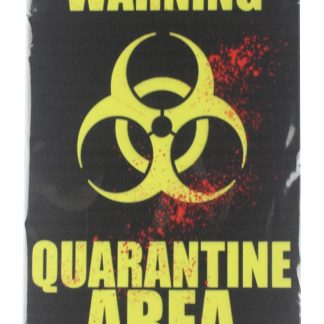 Warning Quarantine Area tin metal sign 0129a Metal Sign Area