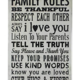 Family Rules Be Thankful tin metal sign 0130a Metal Sign art prints