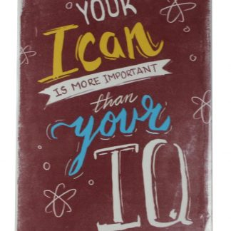 Your I can is more important than your IQ tin metal sign 0132a Metal Sign can