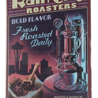 Rain City Roasters coffee tin metal sign 0134a Metal Sign brewery bar vintage metal signs