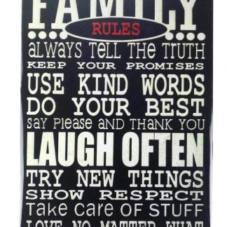 Family rules Laugh Often tin metal sign 0138a Metal Sign accent wall