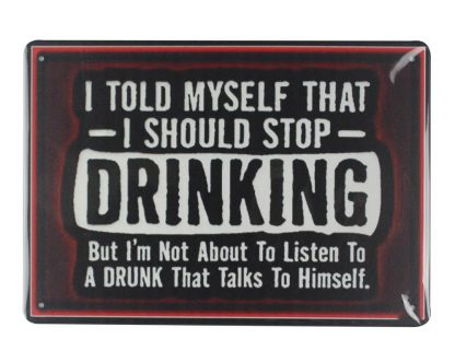 I should stop drinking tin metal sign 0141a Beer Wine Liquor coffee shops metal art