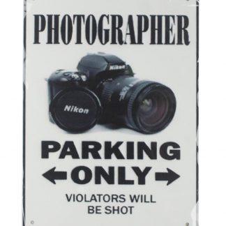 photographer parking only tin metal sign 0150a Metal Sign bedroom wall art decor