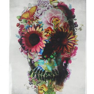 Mexican sugar skull day of death tin metal sign 0153a Metal Sign apartment accessories