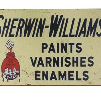 Sherwin-Williams paints varnishes enamels tin metal sign 0173a Metal Sign dining room wall decor