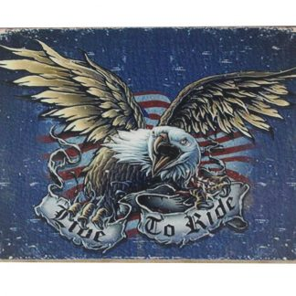 love to ride eagle vintage tin metal sign 0176a Metal Sign buy art prints
