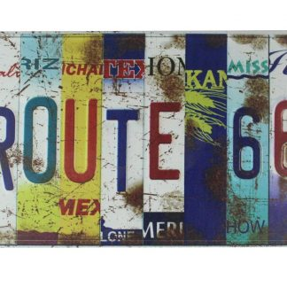 route 66 historic America hwy tin metal sign 0177a Gas Oil Automotive alphabet wall home tavern