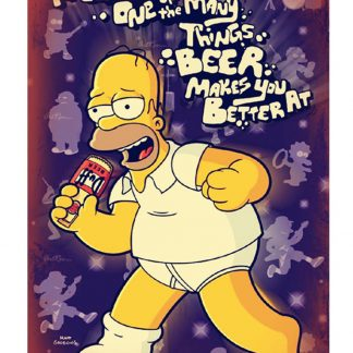Simpsons Homer DUFF Beer music singing metal sign 0202a Beer Wine Liquor beer