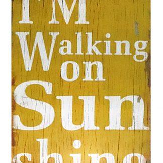 I'm walking on sunshine tin metal sign 0203a Metal Sign cafe pub dorm wall art