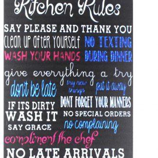 Kitchen Rules tin metal sign 0220a Metal Sign cheap modern wall decor
