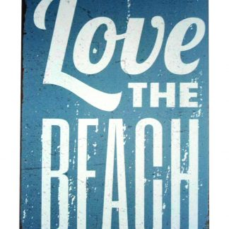 Love the beach tin metal sign 0227a Metal Sign beach