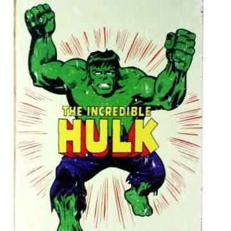 Marvel comic Hulk tin metal sign 0228a Comics comic