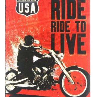 vintage motorcycle live to ride metal sign 0236a Gas Oil Automotive brewery bar man cave club art
