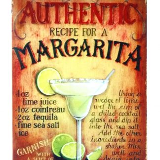 Authentic Margarita cocktail drink tin sign 0237a Beer Wine Liquor accent wall