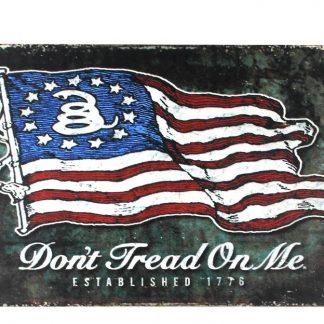 Don't Tread On Me American Revolutionary War 1776 Gadsden Flag metal sign 0238a Metal Sign 1776