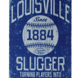 Louisville 1884 slugger tin metal sign 0241a Metal Sign 1884