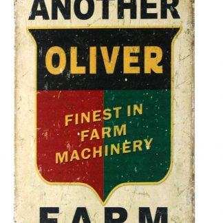 another oliver farm machinery tin metal sign 0250a Metal Sign another