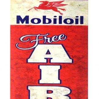 Mobiloil free air Mobil Pegasus Gas tin metal sign 0251a Gas Oil Automotive air