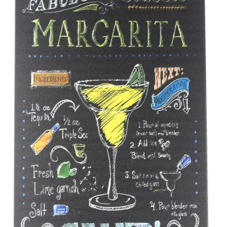 Margarita salud cocktail bar pub drink metal sign 0260a Beer Wine Liquor bar