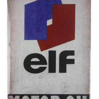 elf motor oil tin metal sign 0308-2a Gas Oil Automotive elf