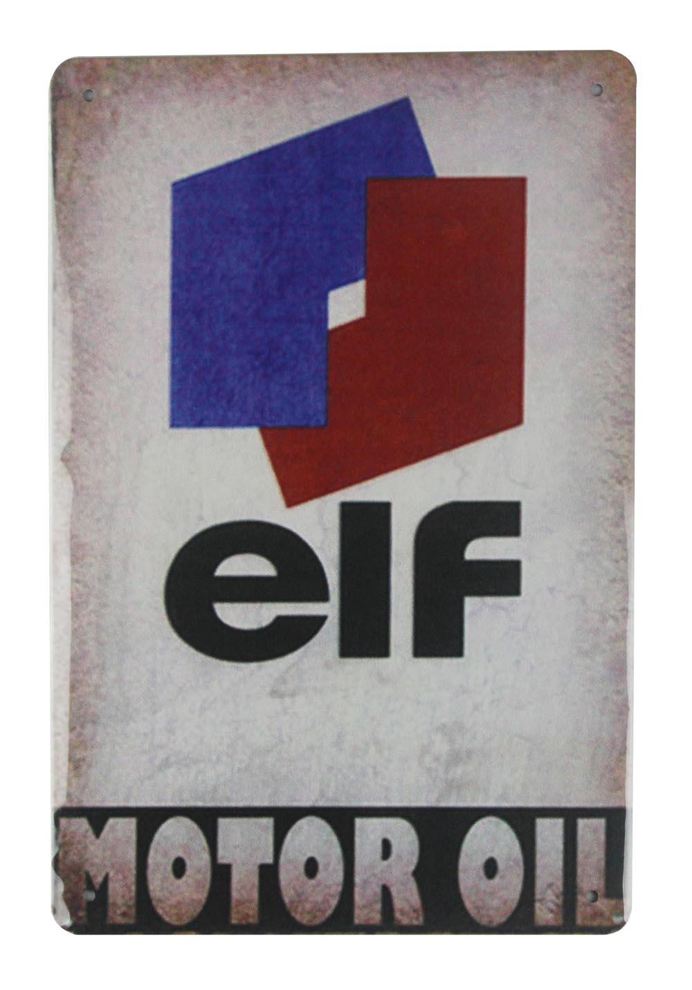 Elf Metal Tin Sign vintage cafe pub rétro plaque garage cuisine Plaque Voiture