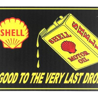 Shell motor oil gas tin metal sign 0319a Gas Oil Automotive art on the wall