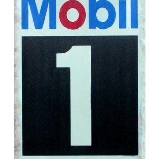 Mobil racing motor oil tin metal sign 0320a Gas Oil Automotive collectible tin signs