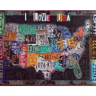 American map car license plates tin metal sign 0340a Metal Sign American