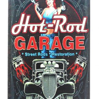 auto car hot rod garage pin-up girl tin metal sign 0351a Metal Sign auto