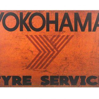 Yokohama tyre service tin metal sign 0370a Metal Sign antique pop shop signs