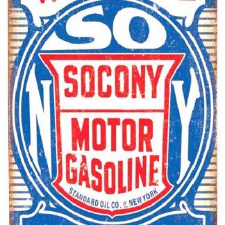 Socony motor gasoline garage tin metal sign 0389a Gas Oil Automotive artwork office walls