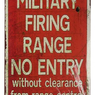 military firing range no entry tin metal sign 0400a Metal Sign buy art posters